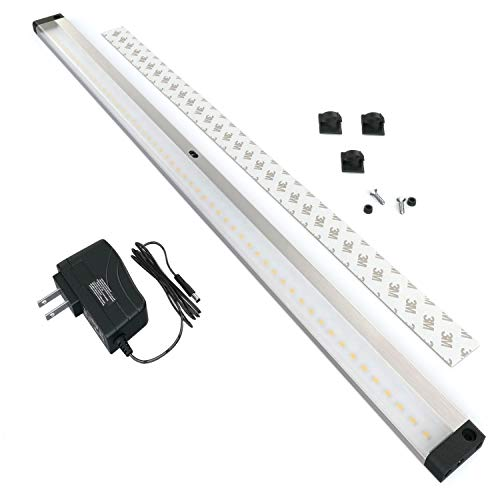 EShine LED Dimmable Under Cabinet Lighting - Extra Long 20 Inch Panel, Hand Wave Activated - Touchless Dimming Control, Warm White (3000K)