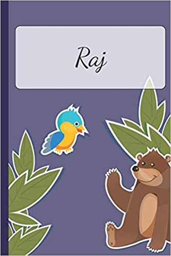 Raj Personalized Notebooks Sketchbook For Kids With Name Tag