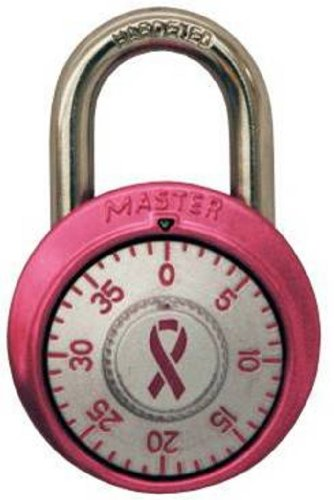 Master Lock Padlock, Standard Dial Combination Lock, 1-7/8 in. Wide, Pink, 1530DPNK