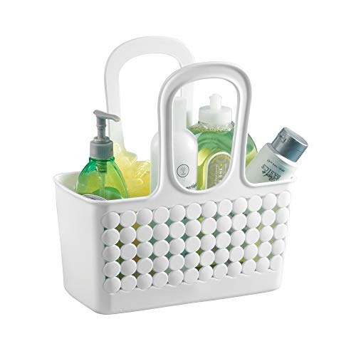 InterDesign Orbz Plastic Bathroom Shower Tote, Small College Dorm Caddy for Shampoo, Conditioner, Soap, Cosmetics, Beauty Products, 11.25