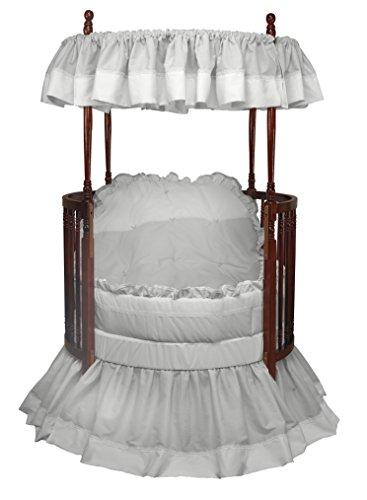 Baby Doll Bedding Regal Round Crib Bedding Set, Grey