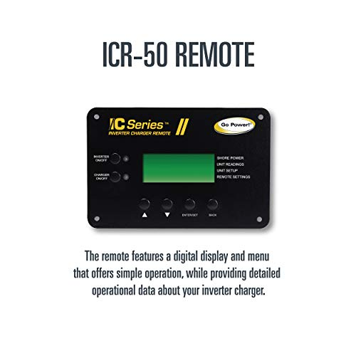 Go-Power-GP-IC2000-12-PKG-Pure-Sine-Wave-Inverter-2000-Watt-with-100-amp-Charger-Includes-ICR-50-Remote