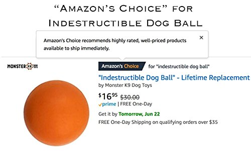 Indestructible Dog Ball - Tough Strong, 100% Non-Toxic Chew Toy, Natural Rubber Baseball-Sized Bouncy Dog Ball for Aggressive Chewers and Large Dogs 3