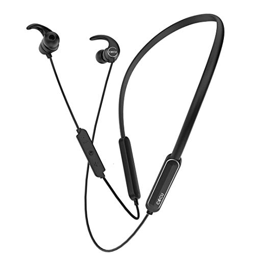 41w7I7GhQrL Cocu EXPLOD in-Ear Bluetooth Neckband Earphone with Mic Newest Bluetooth 5.zero Wi-fi Earphones Headphones Earbuds 16 Hours Playtime Constructed-in Further Bass and Assistant Management (Black)