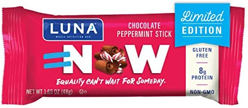 LUNA BAR - Gluten Free Bars - Chocolate Peppermint Stick - (1.69 Ounce Snack Bars, 15 Count)(Packaging May Vary) 1