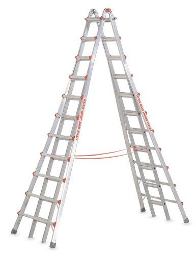Little Giant Ladders 10121 SkyScraper 300-Pound Duty Rating Adjustable Stepladder, 21-Foot