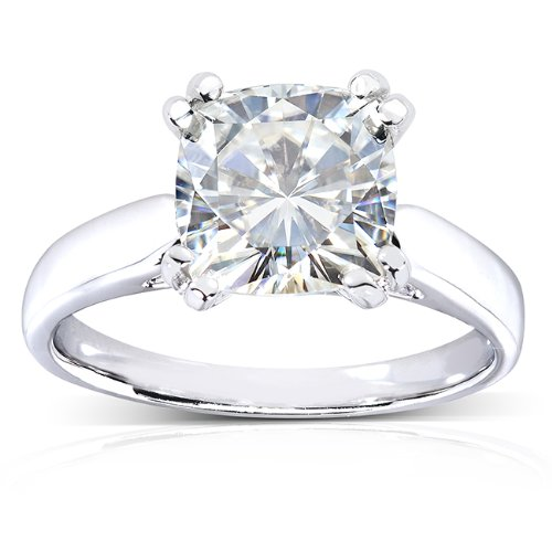 41wAPpAw2tL 14k White Gold Moissanite Solitaire Engagement Ring Center stone is a 2ct Genuine Kobelli Moissanite Satisfaction Guaranteed. Return or Exchange Policy Within 30 Days