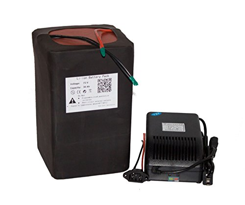 72v 30AH Lithium Li-ion Battery Pack for Electric Bicycle With 5A Charger Used for 3500w Scooter Hub Ebike Kit