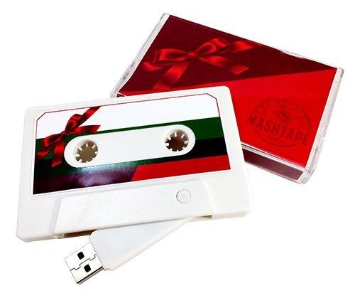 The Original MASHTAPE-Holiday Christmas Gift Design, 8GB USB Cassette Flash Drive