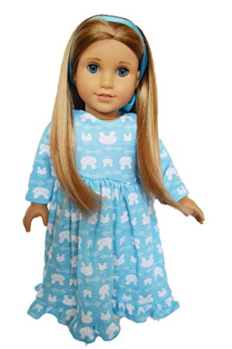 BUNNY NIGHTGOWN FOR AMERICAN GIRL DOLLS