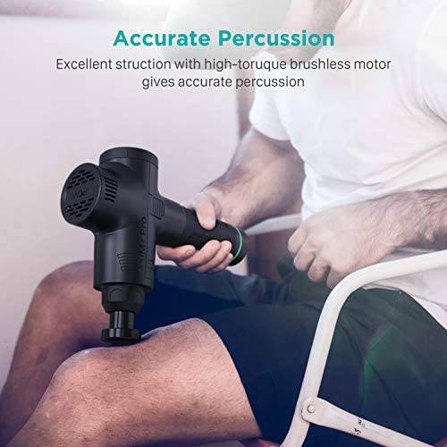 Massage Gun Muscle Massager Deep Tissue Percussion Portable Handheld Electric Body Massager Sports Drill Super Quiet Brushless Motor Cordless, opove M3 Pro Black 4