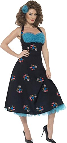 Grease Cha Cha Digregorio Costume Black Uk Dress 12-14
