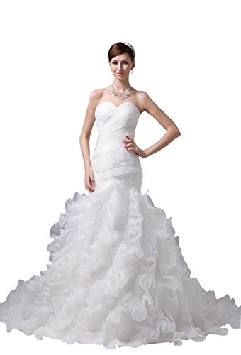 61 OJLNAeTL Organza wedding dresses Built-in bra. Dry clean only. Custom-made, Color-change Available