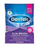 DenTek Slim Brush Interdental Cleaners | Brushes Between Teeth | Extra Tight Teeth | Mouthwash Blast Flavor | 32 Count | Packaging May Vary