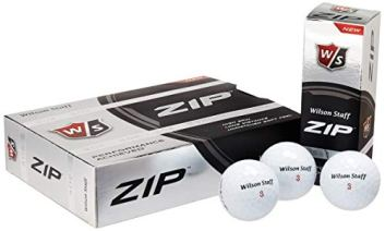 Wilson ZIP Double Dozen Golf Balls, Pack of 24 (White)