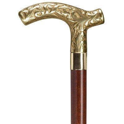 Men Derby Cane Walnut Maple, Solid Brass Handle  -Affordable Gift! Item #HAR-9112407