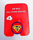 Cell Phone Holder Ring Stability Holder Back Stand Collapsible Hand Grip Knob Universal Car Mount Kickstand 360 for iPhone Samsung Galaxy Mobile (Superman)