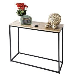 C-Hopetree Entry Hallway Sofa Console Table for Small Spaces – Metal Frame