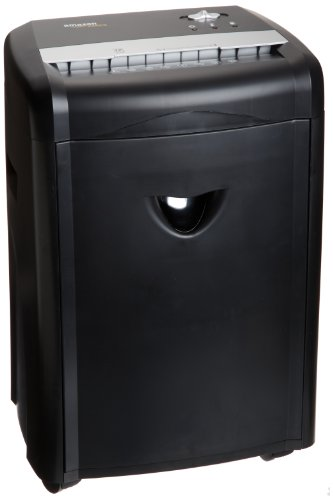 AmazonBasics 12-Sheet High-Security Micro-Cut Paper, CD and Credit Card Home Office Shredder with Pullout Basket