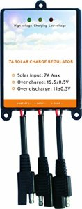 Sunway Solar Panels Charge Controller Battery Regulator 7A For 12Volt Solar Battery Charger, Solar Battery Maintainer and 12 Volt Batteries Power Kit Safe Protection
