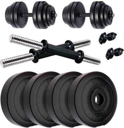 SUS-Products-04-KG-to-20KG-Home-Gym-Combo-Kits-of-PVC-Dumbbell-Plates-Set-with-3-Ft-Straight-Rod-Spring-Locks-Exercise-Fitness-Sets