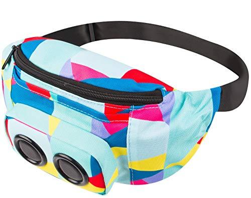 Vivitar Jam Bag Wireless Speaker Fanny Pack, Color Blocking Designs May Vary