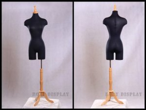 (JF-F2-LG +Base), ROXYDISPLAYTM Female Body Form, Straight Pinnable with Base and Pole+Cap