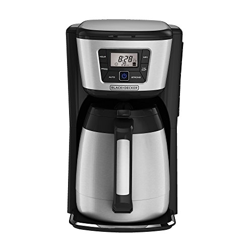 BLACK+DECKER CM2035B 12-Cup Thermal Coffeemaker, Black/Silver