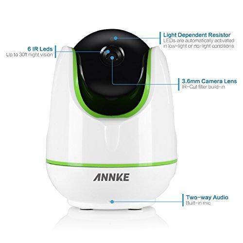 Annke SP3 960P HD WiFi IP Camera,Wire-Free Design baby monitor,Smart