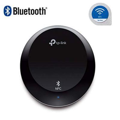 TP-Link HA100 Bluetooth Ricevitore Musicale, Bluetooth 4.1, NFC, Trasmette Fino a 20 Metri di Distanza, Ampia Compatibilità, Si collega con connettori 3.5mm o RCA, Porta Nuova Vita al Tuo Hi-Fi