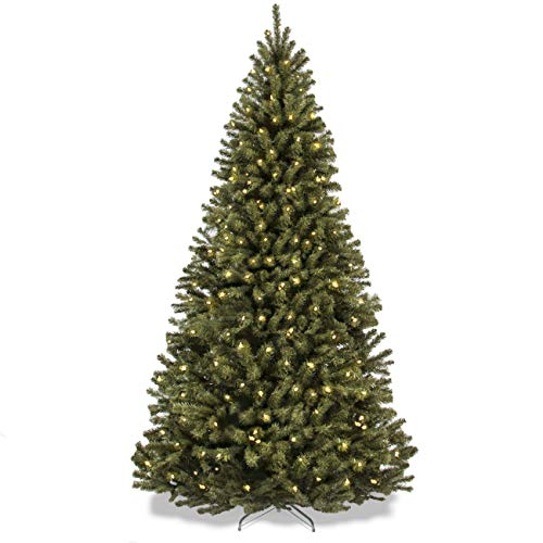 7.5ft Pre-Lit Spruce Hinged Artificial Christmas Tree