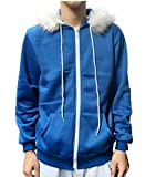 MaeFte Child Tale Hoodie Jacket Cosplay Coat for Kids (M, Blue (Child))