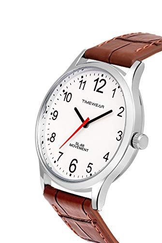 TIMEWEAR Analog Number Dial Leather Strap Watch for Men TODAY OFFER ON AMAZON