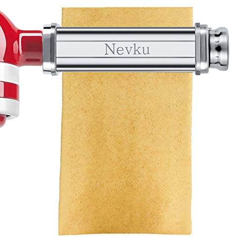 Pasta-Maker-Attachments-Set-for-all-KitchenAid-Stand-Mixer-including-Pasta-Sheet-Roller-Spaghetti-Cutter-Fettuccine-Cutter-by-Nevku
