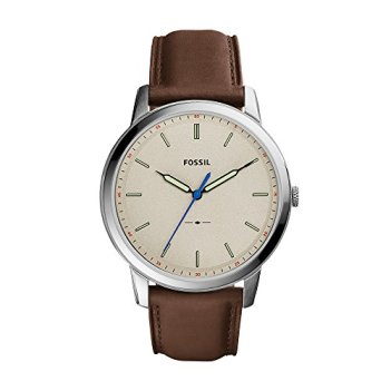 Fossil Men's FS5306 The Minimalist Three-Hand Brown Leather Watch