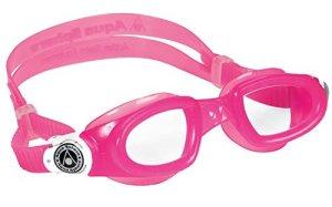 Aqua Sphere Moby Kid Swim Clear Lens Goggles, Pink/White
