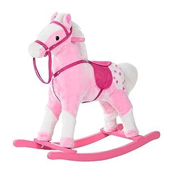 Qaba Kids Plush Rocking Horse Pony