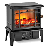Fireplace Heater - Electric Fireplace Heater with 3s Fast Heating System, 500W Portable Fireplace Heaters for Indoor Use, Quartz Fireplace Heaters with Overheat Tip-Over Protection for bedroom