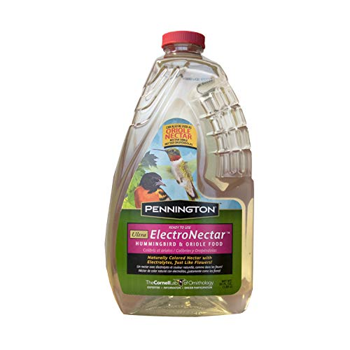 Pennington 100510152 ElectroNectar Ready to Use Hummingbird Nectar, 64 oz Clear