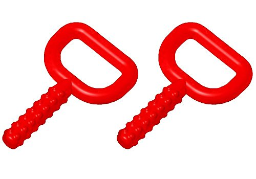 Chewy Tubes Super Tubes Red Teether, 2-Pack