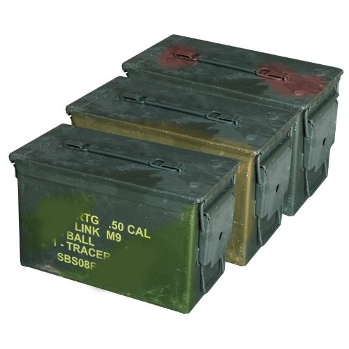 M2A1 50 Cal Steel Ammo Cans (3 Pack)