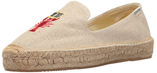 41wzwzqXvoL Espadrille slip-on shoe featuring beach-themed embroidery by artist Mary Matson Reinforced heel