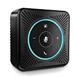 USB Speakerphone - eMeet M0 Conference Speaker for 8-10 People Business Conference Phone 360° Voice Pickup 4 AI Microphones USB Skype Speaker Self-Adaptive Conference Call Speaker Plug and Play