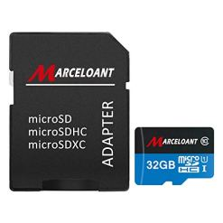 TF Card 32GB, Marceloant Micro SD Memory Cards Class 10 microSDHC UHS-I Card with Adapter, Black/Blue, Standard Packaging (32GB TF Card)