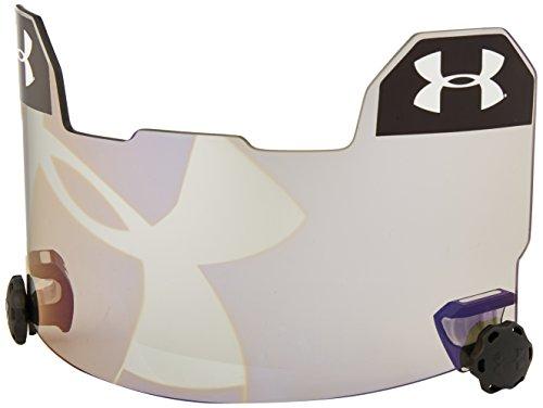 Under Armour Standard Football Helmet Visor with Hologram, Grey/Blue