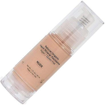 Light Liquid Mineral Foundation, Natural, Organic, Vegan, No Animal Cruelty, Gluten Free, Veer, Non GMO, No Palm, No Parabens, Natural Sunscreen SPF, Non Comedogenic, Hypoallergenic - Nude