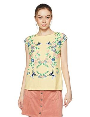 Madame Women's Floral Regular Fit Top