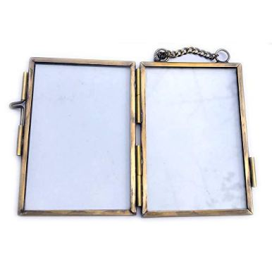 Set-of-4-Antique-Brass-2x3-Mini-Picture-Frame-Extra-Small-Hanging-Metal-Copper-Wallet-Size-Photo-Frame-for-Family-Tree-Portrait