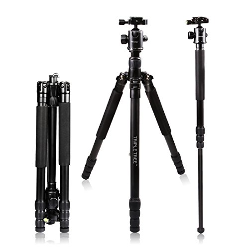 Tripod Ball Head, Professional Metal Tripod Ballhead, 360 Degrees Free Rotation for Canon Sony Nikon DSLR Cameras, Tripod and Monopod, Maximum Load 17.6 lbs, Two 1/4 to 3/8 Screw Adapters Included