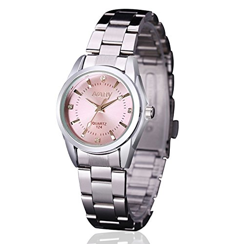 OCCASION: The fashion design makes the watch all match for any occasion. Perfect gift for Mother's Day, Anniversary Day, Valentine's Day and birthday to your girlfriend, wife and mom. Digital WATCH: Fashionable dial design for women, casual style outlook. The needle with Luminous, elegant rhinestone embedded and simple Roman numeral as hours indicators PRECISE TIME KEEPING: Japanese quartz analog provide precise and accurate time keeping. Imported battery which can provide the wristwatch strong power.
